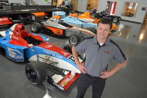 World Speed owner Telo Stewart stands in his shop on Wednesday at Sonoma Raceway near Sonoma. He is running five of his cars in this weekend's Pro Mazda championship race, a part of the Indycar weekend at Sonoma Raceway. (Frankie Frost photo)