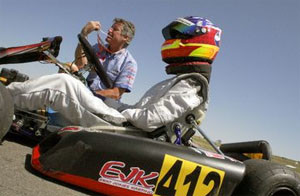 Michael Self competeing at the 2007 Champ Car Rotax Kart Challenge Grand Nationals