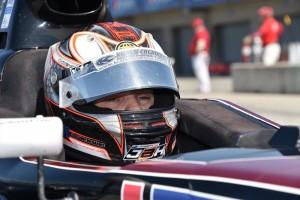 Joseph Burton-Harris waiting to qualify at the Pro Mazda Championship Finale.